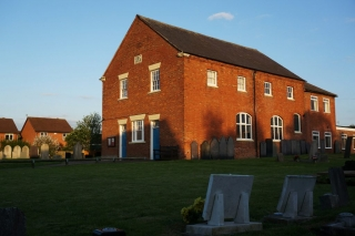 Situated a little way back from Main Street is the Baptist Chapel (1839)