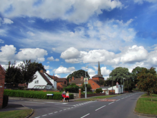 Brookside at junction with Leivers Close by B. Clarke - 2013